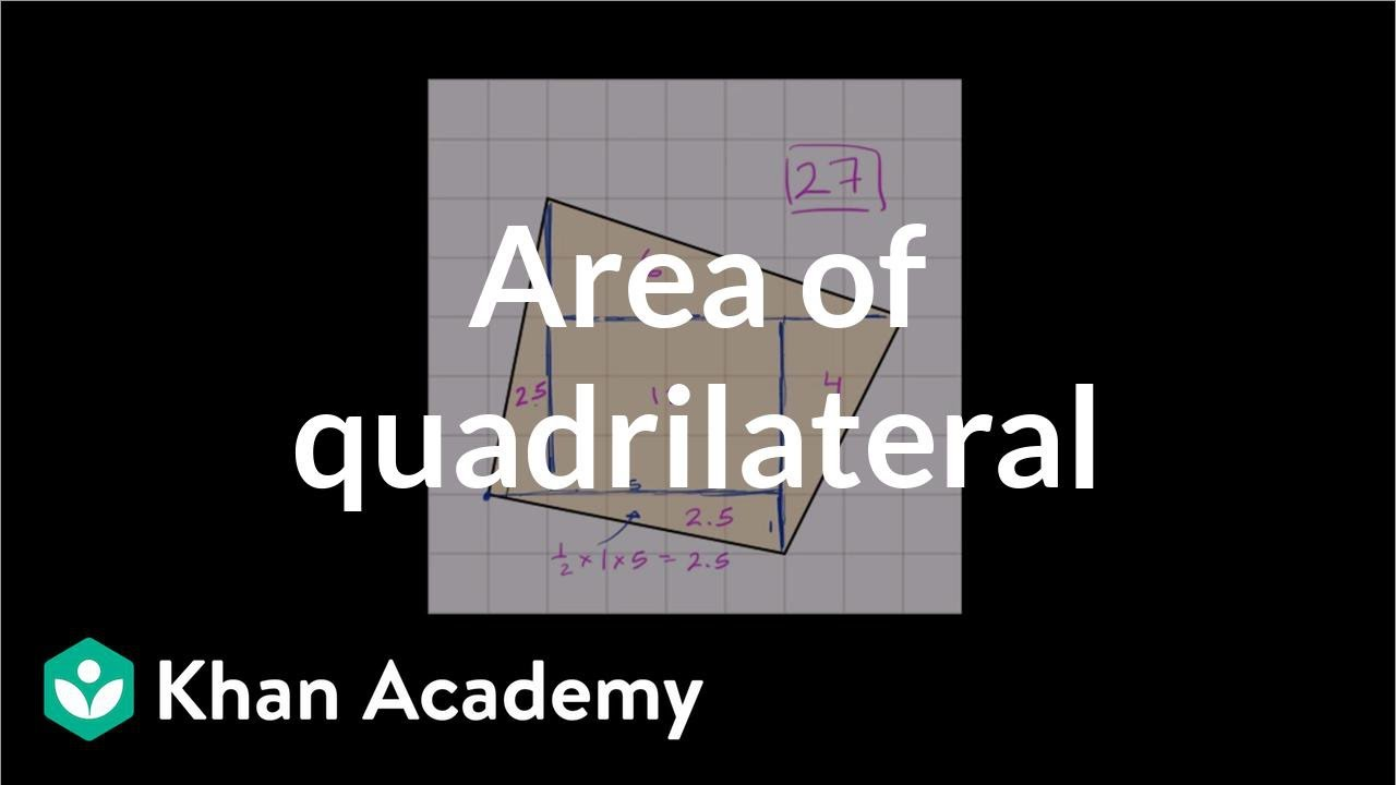 How To Find The Area Of A Strange Quadrilateral On A Grid  Geometry  6th  Grade  Khan Academy