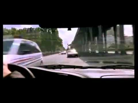 Taxi 2 police car crash scene