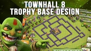 Repeat youtube video Clash of Clans: Townhall 8 Trophy Base Design