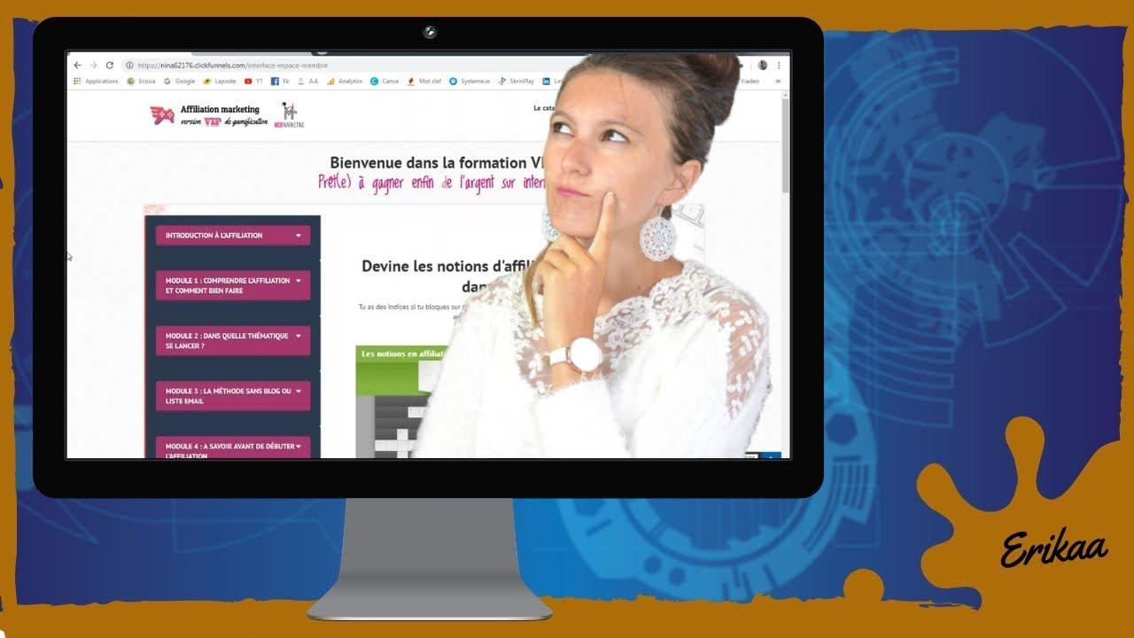 Formation - Les SECRETS DE L'AFFILIATION de Nina Habault version 3.0 !