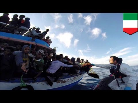 Hundreds dead in migrant boat capsize as people flee war torn Libya for Italy