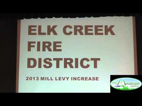 Fire Safety & Elk Creek Mill Levy Community Meeting Oct 2, 2013