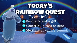 Today's Rainbow Quest in Vault (Includes other 3 quests)   sky children of the light   Noob Mode
