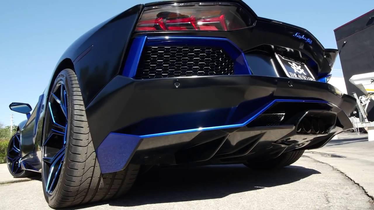 Avorza Lamborghini Aventador Satin Black Blue Edition Done For