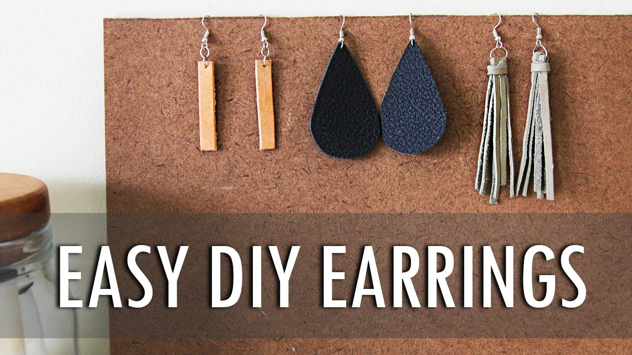 Diy 3 Easy Leather Earrings