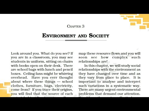 Class 11 ( Environment and society ) of book- UNDERSTANDING SOCIETY. HINDI explanation
