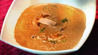 MUSHROOM SOUP - made with dried porcini /restaurant recipe