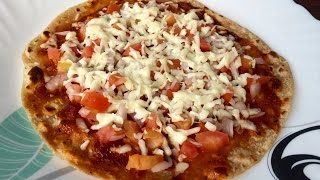 Microwave Chapati/tortilla Pizza - Ready In Under 5 Minutes!
