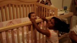 Stuti and Sanjay playing