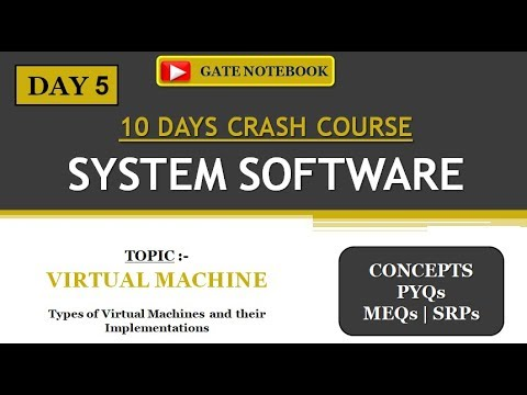 SYSTEM SOFTWARE | 10 DAYS CRASH COURSE | DAY 5 - Virtual Machine