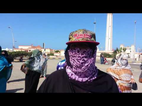 وقفة احتجاجية لعدد من مستخدمي الانعاش الوطني ببوجدور أمام مقر عمالة بوجدور