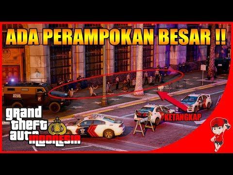 GTA V MOD INDONESIA (31) - ADA PERAMPOKAN BANK BESAR !!
