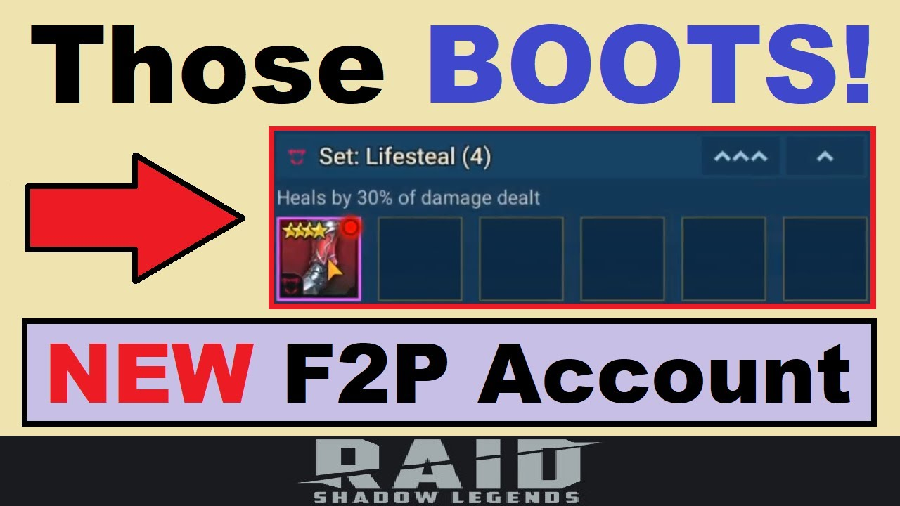 Wow!.. Those BOOTS!!.. My 1st Gearing Mistake ALREADY.. (RAID: Shadow Legends F2P Account, Ep.#1)