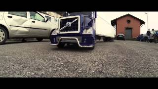 truck volvo vn 780 rc giant scale 1 4 vs traxxas by gopro 3 black