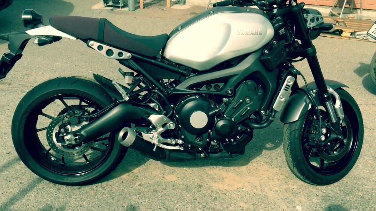 Yamaha XSR900 Stock Vs Akrapovic W Db
