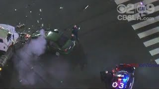Police Chase Crashes Into Jet Fuel Tanker - Orange County April 7 2018