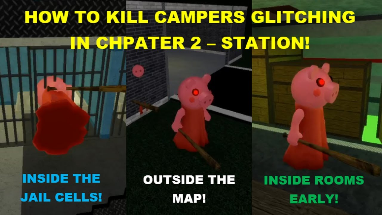 Even mobile | How to CATCH GLITCHERS CAMPING in Chapter 2 - Station! [Roblox Piggy Glitches]