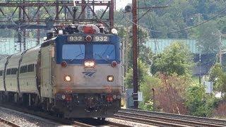 Amtrak & MARC Trains in Halethorpe Station