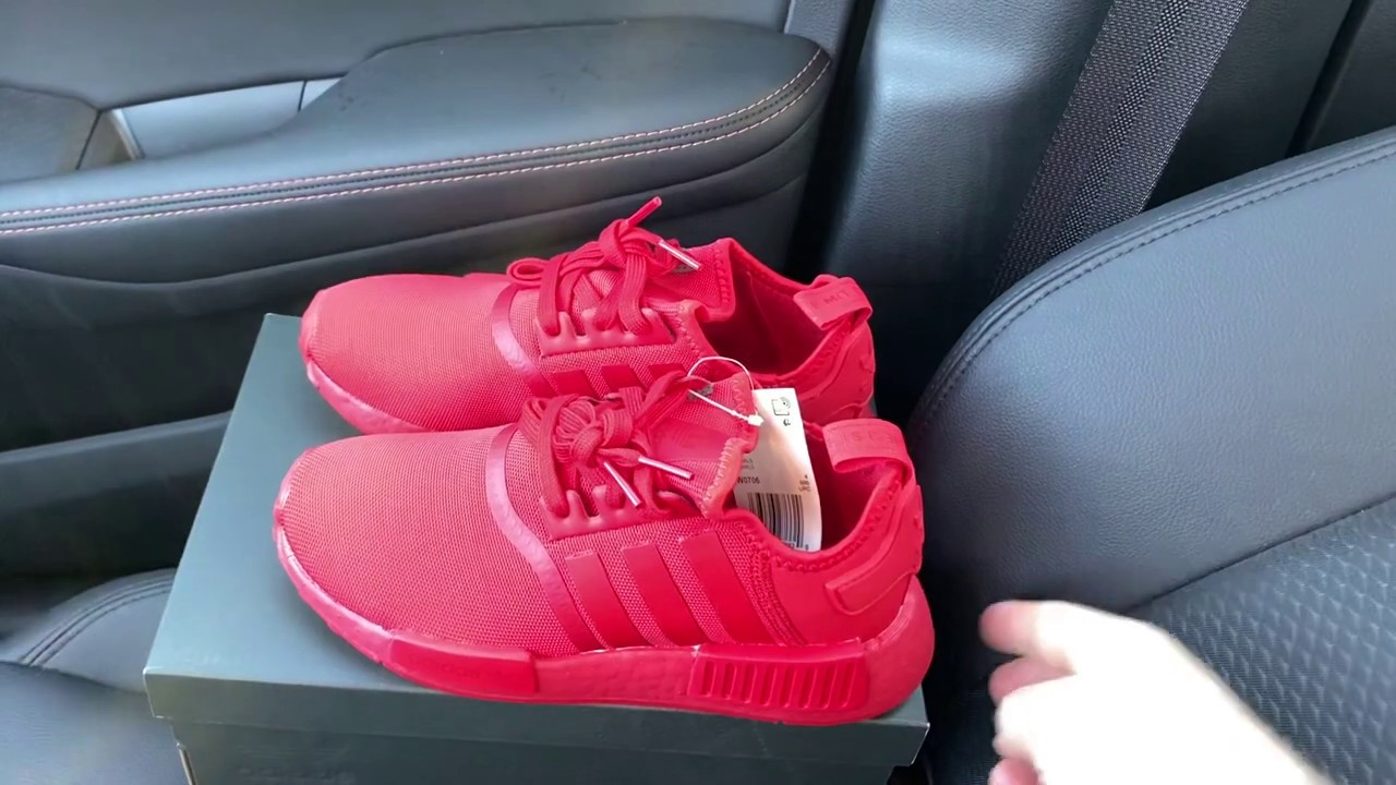 Adidas NMD R1 Triple Scarlet Red shoes