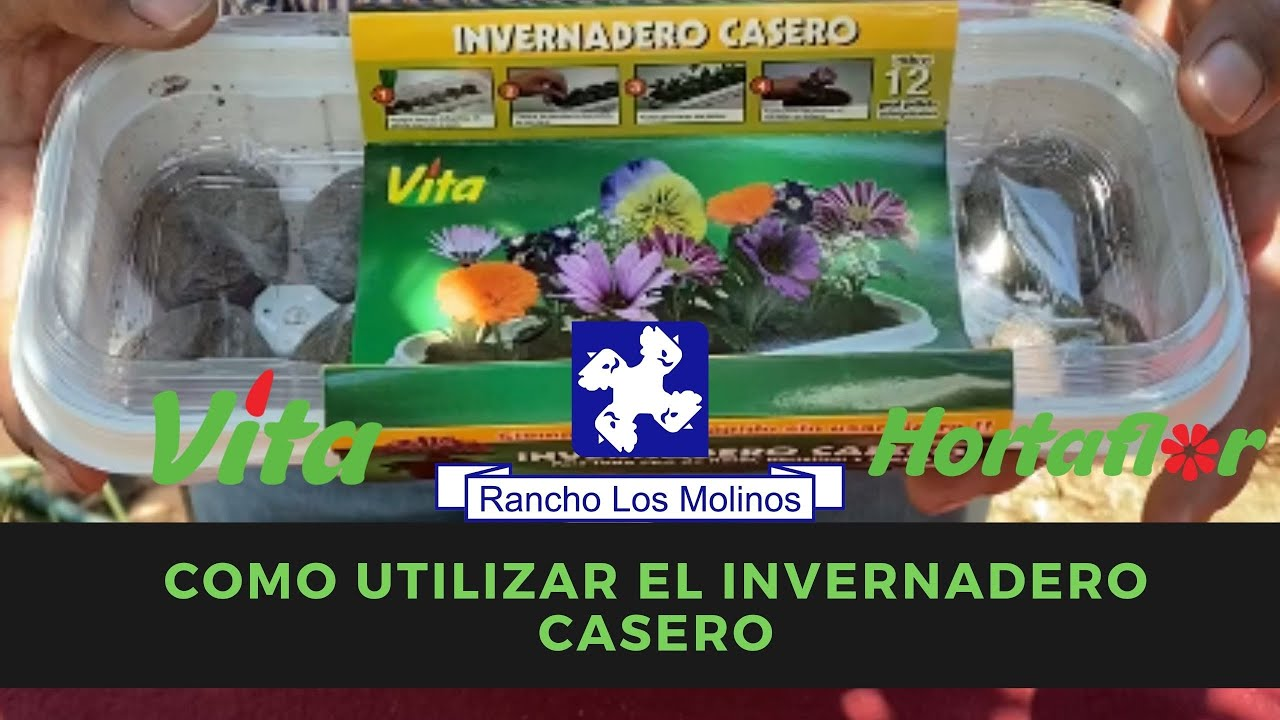 Como utilizar el invernadero casero de Vita y Hortaflor