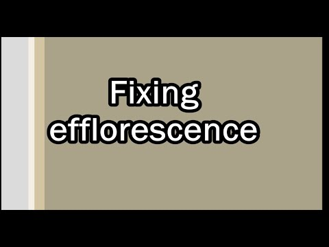 Fixing Efflorescence