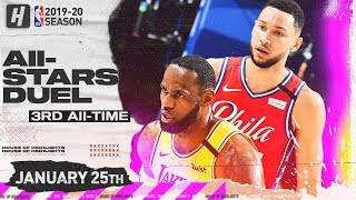 LeBron James vs Ben Simmons EPIC Duel Highlights | Lakers vs 76ers | January 25, 2020