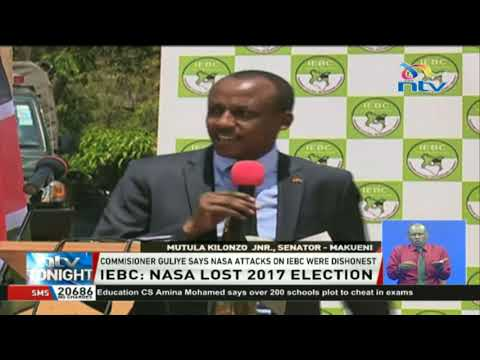 IEBC insists NASA lost the 2017 poll and acknowledged the loss