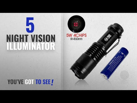 Top 10 Night Vision Illuminator [2018]: IR Infrared Night Vision Flashlight 5W 4 Chips 850nm Hunting