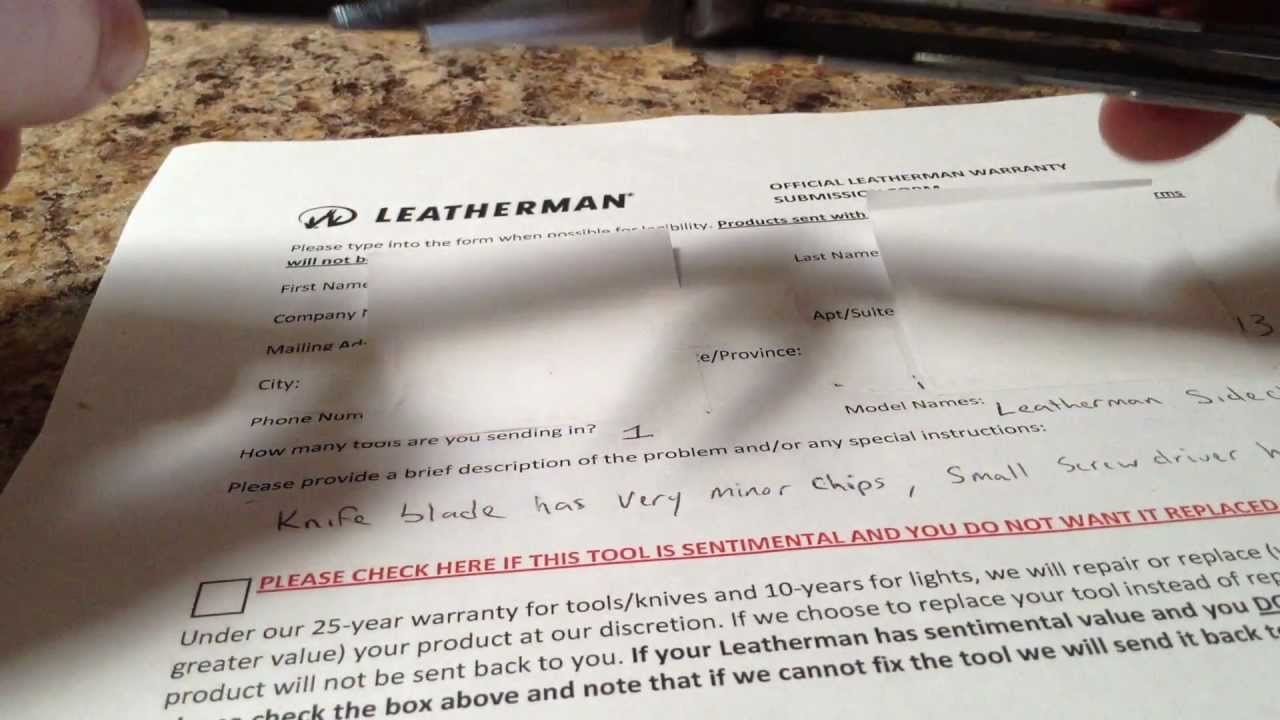 Leatherman Warranty Repair Form Tekil Lessecretsdeparis Co