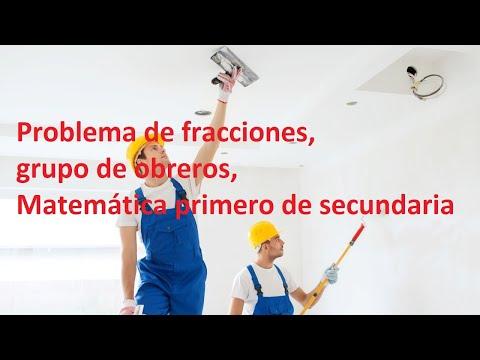 Problema de fracciones, grupo de obreros, Matemática primero de secundaria - Aprendo en casa