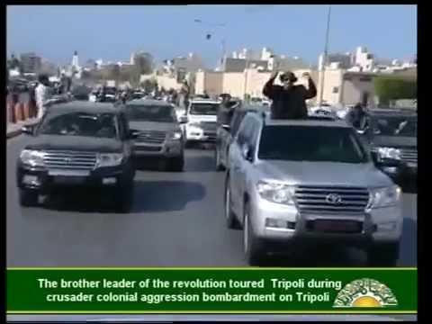 Al Gaddafi on the streets of Tripoli, Libya 14 Apr 2011 - The original full video by AlGaddafi.org