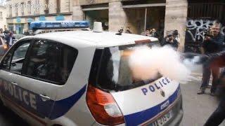 Classe Télé - Voiture de police incendiée : deux vidéos, deux versions des faits