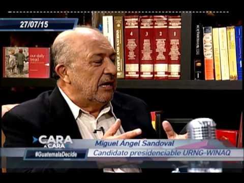 Cara a Cara, Eduardo Valdizan en entrevista con Miguel Ángel Sandoval