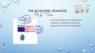 2017 05 10 Bio20E Lesson 1 Unit 4 Chp 1 Biosphere