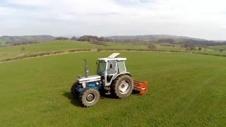 FORD 7810 SILVER JUBILEE AND BROWNS GRASSLAND SLITTER