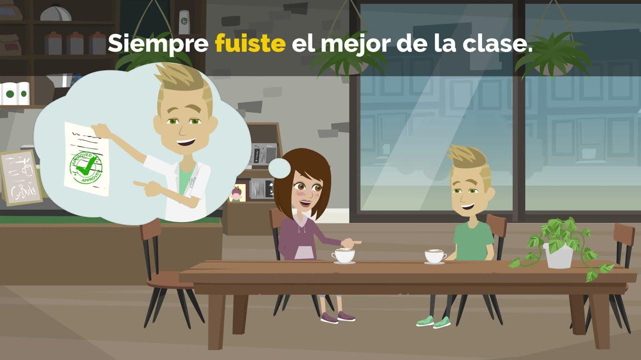 Verbos en español - Pretérito perfecto simple, presente y pasado