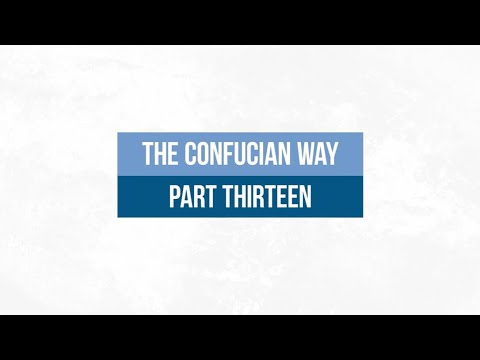 The Confucian Way 13: Doing Nothing and the Nature of Water