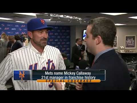 WATCH: Mickey Callaway is excited to manage the New York Mets