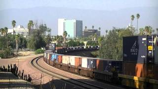 HD 1080p- BNSF, UP, Metrolink Action Around SoCal