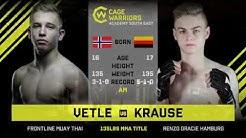 #CWSE23 - Vetle VS Krause - 135lbs Amateur MMA Junior Title Contest