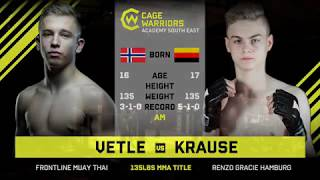 #CWSE23 - Vetle VS Krause - 135lbs Amateur MMA Junior Title Contest