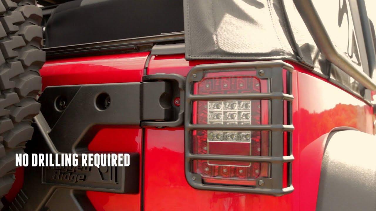 Spotlight: Rugged Ridge Tail Light Euro Guards   11226.02   YouTube