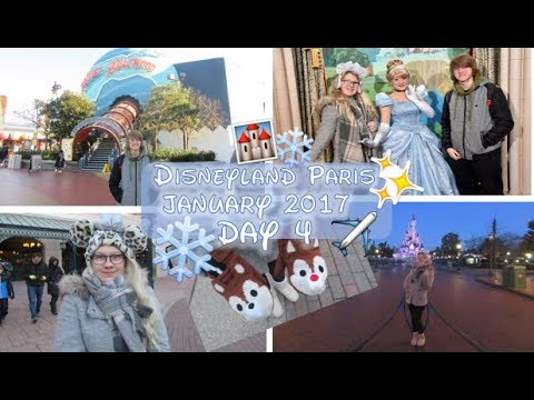 First People in Disneyland, Planet Hollywood, Cinderella & Heading home!   Januray 2017 Day 4