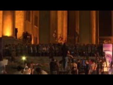 Balas de goma disparadas a manifestantes georgianos