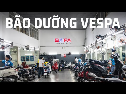 Trải Nghiệm Bảo Dưỡng Xe Vespa Tại Piaggio Sapa