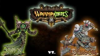 Warmachine & Hordes - Cryx (P-Asphyxious) vs. Trollboods (P-Madrak) - 50pt Battle Report
