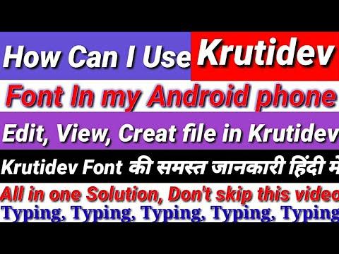 kruti dev font for android