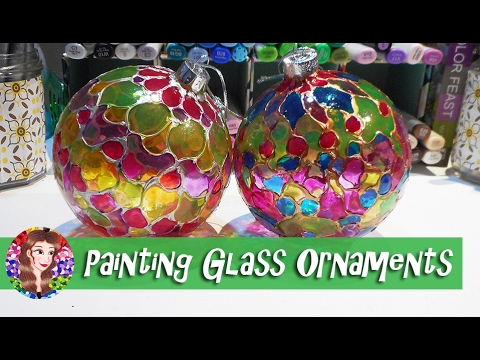 Painting Glass Ornaments Tutorial - Tips and Advice on using Glass Paints - Ma'at Silk