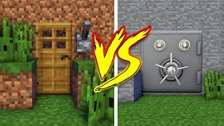 MINECRAFT NOOB VS PRO SECRET BASE in REAL LIFE