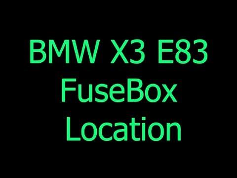 BMW X3 E83 fuse box - YouTubeYouTube